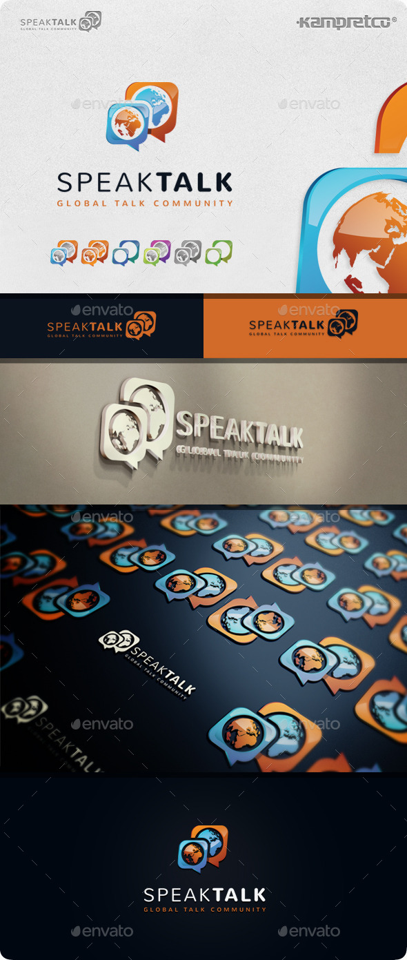 GraphicRiver Speak Talk Logo 11208122