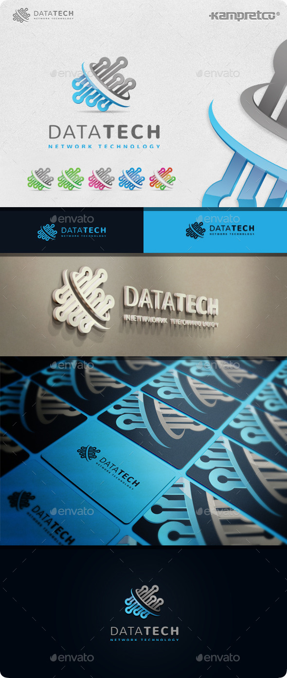 GraphicRiver Data Tech Logo 11208142