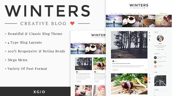ThemeForest Winters Personal HTML Blog Template 11149780