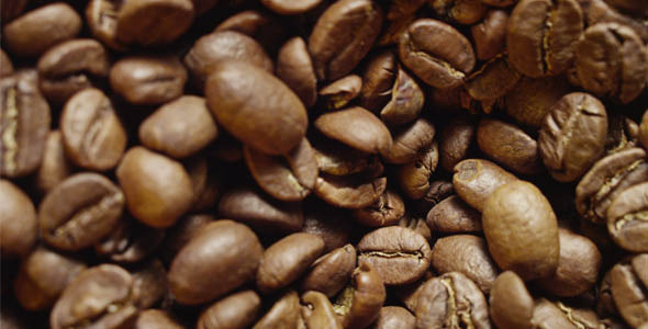 Coffee Beans Rotating