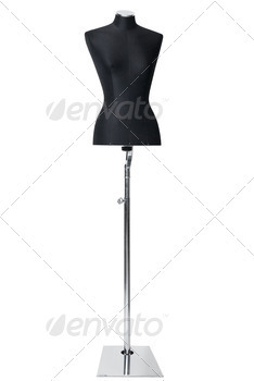 mannequin isolated on white