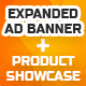 Product Showcase Swipe Gallery Expanded Ad Banner