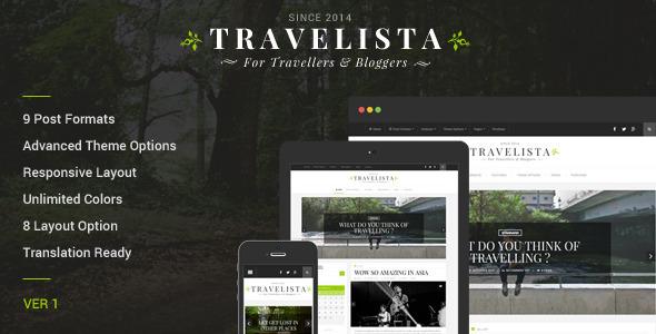 Travelista - WordPress Blog Theme