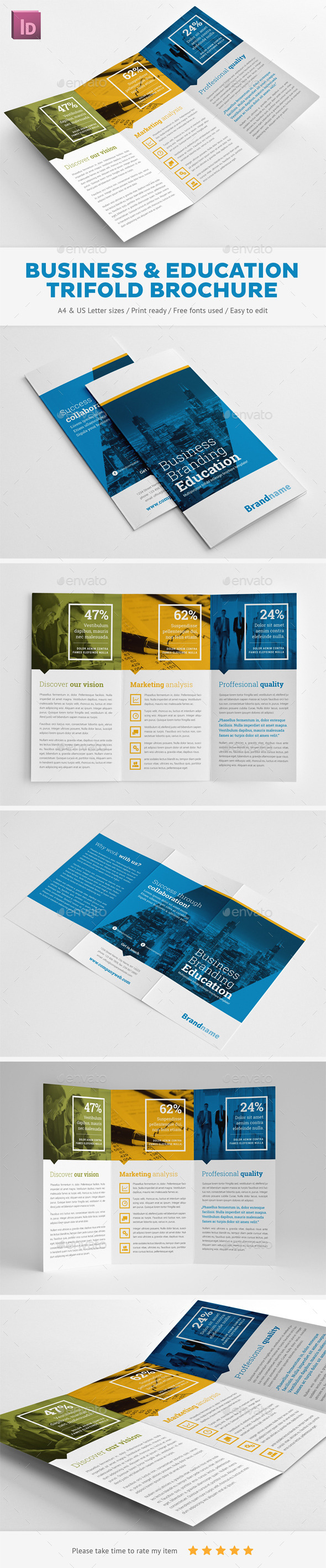GraphicRiver Business Branding & Education Trifold Brochure 11246190