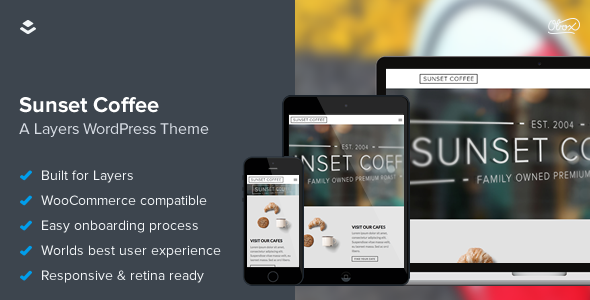 ThemeForest Sunset Coffee Layers WooCommerce Theme 11218175