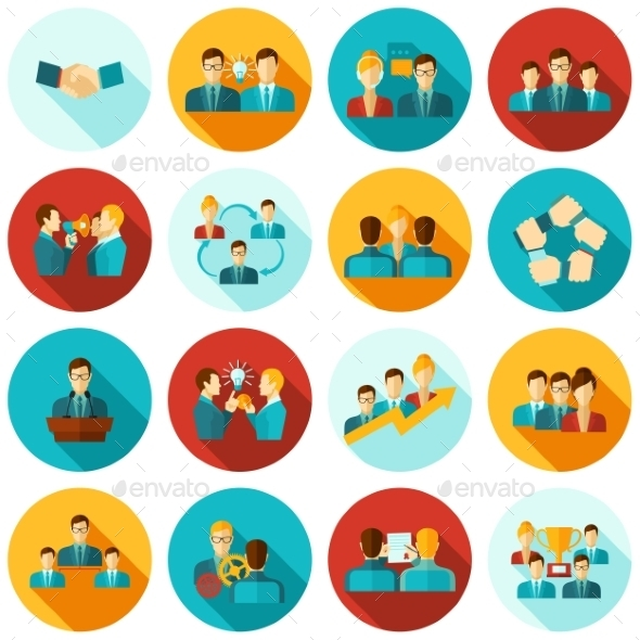 GraphicRiver Teamwork Icons Flat 11246342