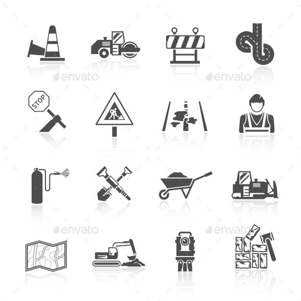 GraphicRiver Road Worker Icon 11246399