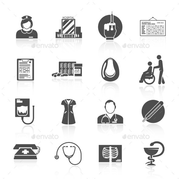 GraphicRiver Nurse Icon Set 11246400