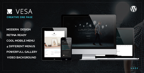 Vesa Responsive Parallax One Page Wordpress Theme