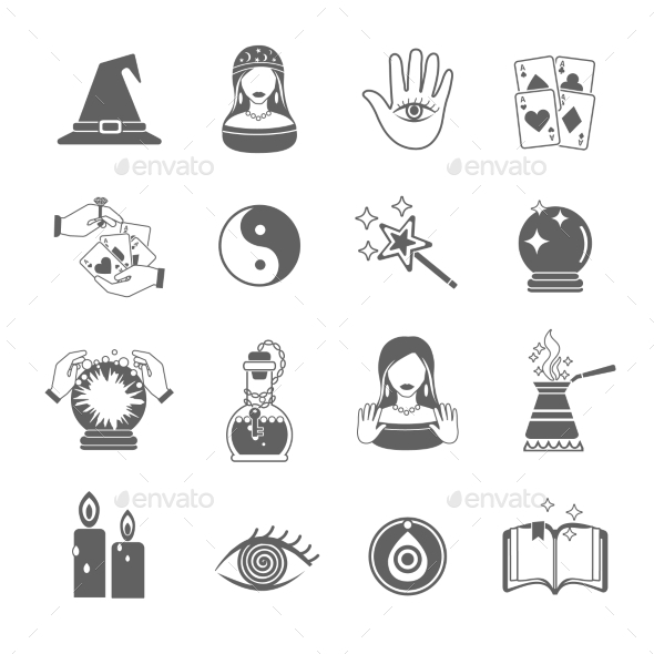 GraphicRiver Fortune Teller Icon Set 11246433