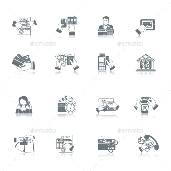 GraphicRiver Credit Life Icon Set 11246434