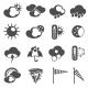 Weather Forecast Symbols Icons Set Black - GraphicRiver Item for Sale
