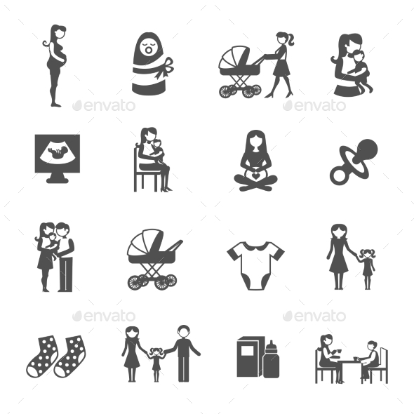 GraphicRiver Motherhood Icons Set 11246500