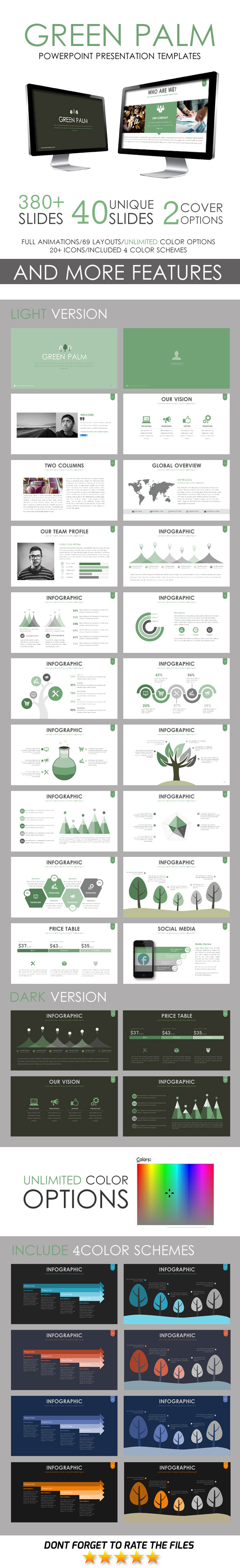 GraphicRiver Green Palm PowerPoint Template 11246503