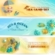 Summer Holiday Vacation Banners Set - GraphicRiver Item for Sale