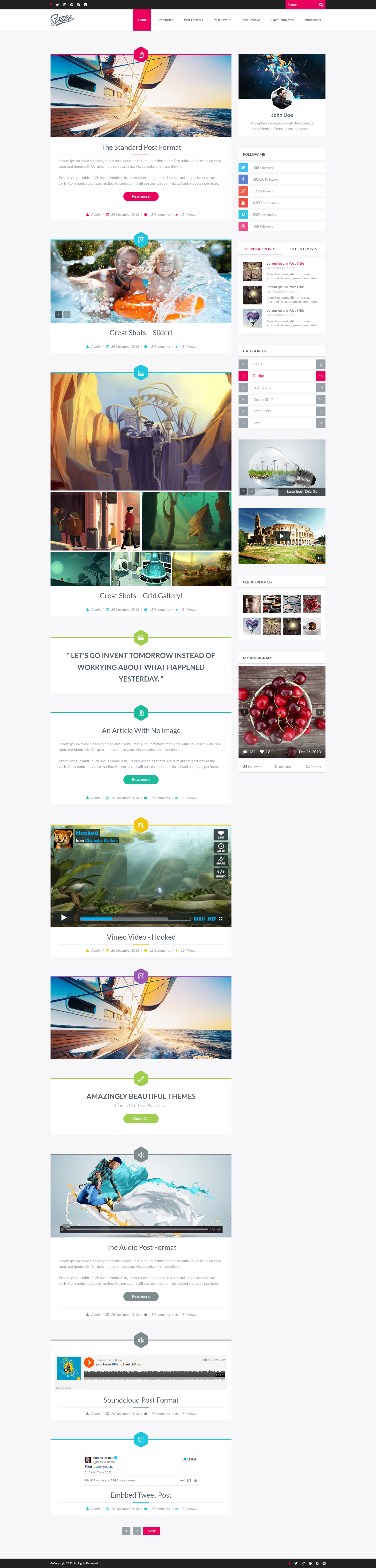 Scratch - Premium Wordpress Blog Theme