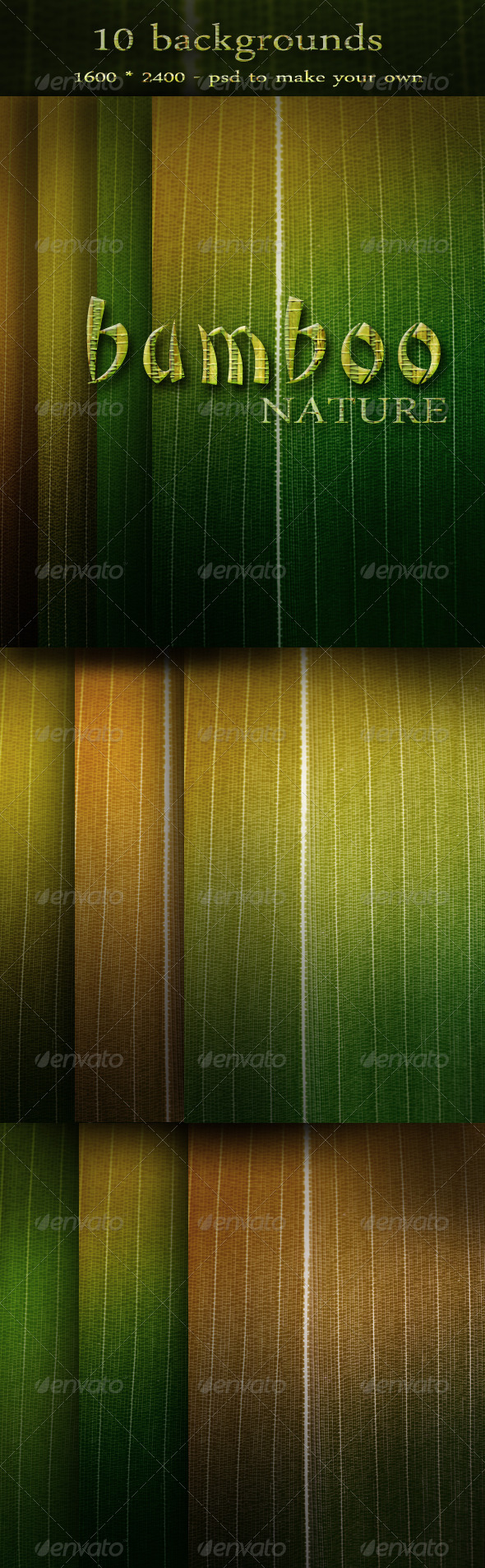 Nature Backgrounds with Bamboo Leaf - Nature Backgrounds
