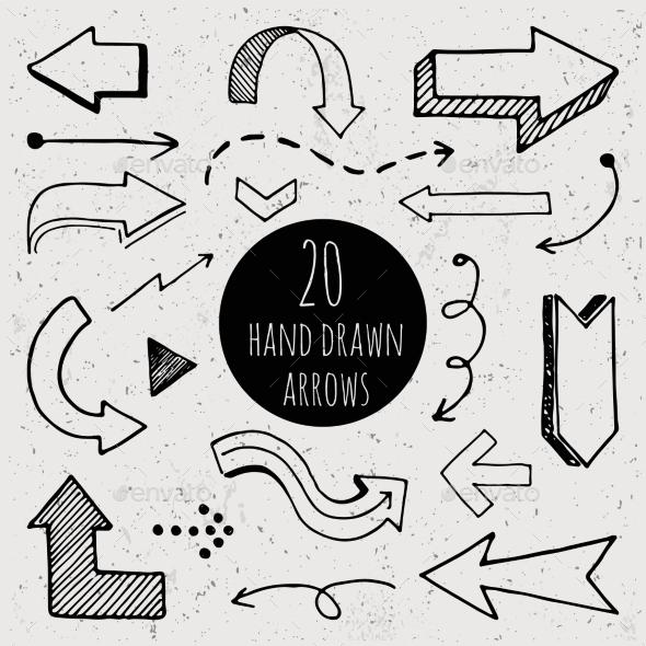 free hand drawn arrows powerpoint template  u00bb tinkytyler org