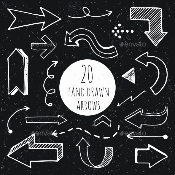 GraphicRiver Hand Drawn Arrows 11246838