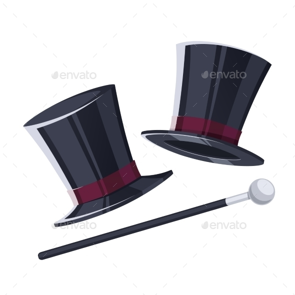 GraphicRiver Top Hat With a Cane 11246866