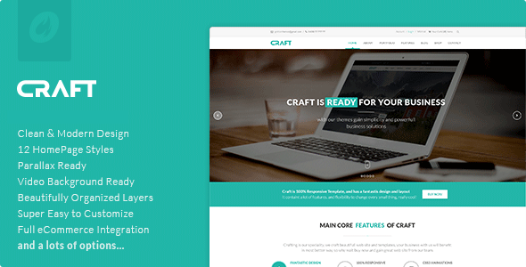 Craft - Multipurpose & Responsive WordPress Theme