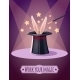 Magic Top Hat With Rabbit. - GraphicRiver Item for Sale