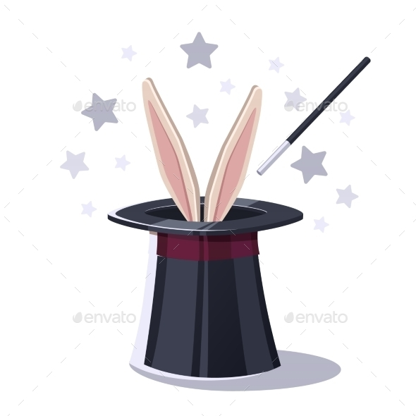 GraphicRiver Magic Top Hat With Rabbit 11246916