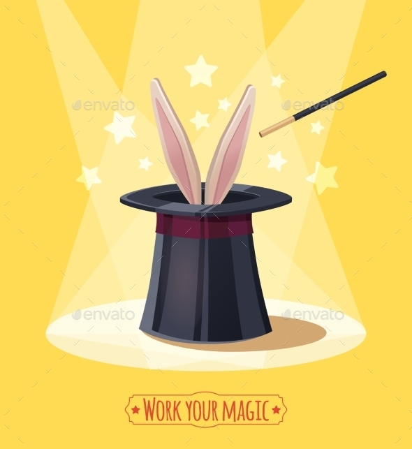 GraphicRiver Magic Top Hat With Rabbit 11246917