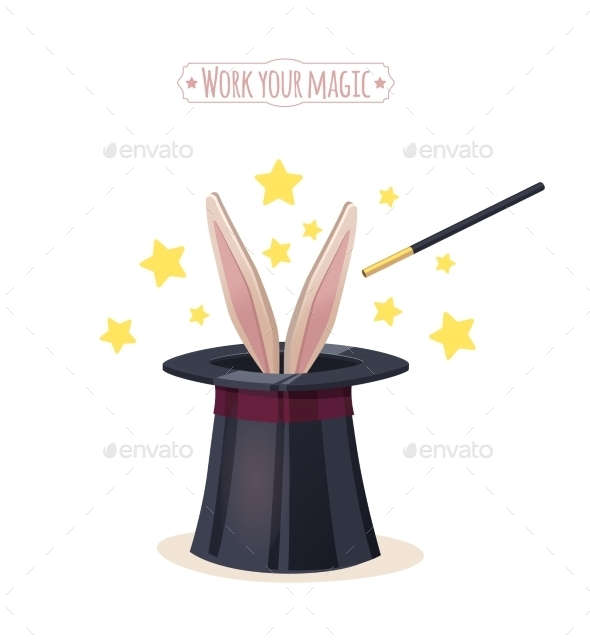 GraphicRiver Magic Top Hat With Rabbit 11246919