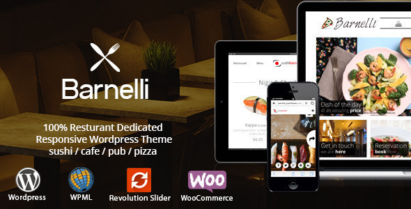 Barnelli - Restaurant Responsive Wordpress Theme - Restaurants & Cafes Entertainment