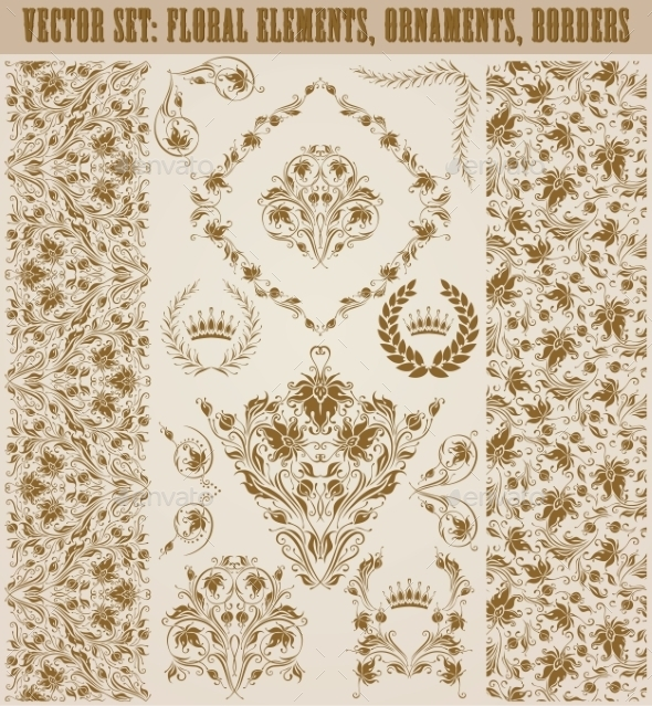 GraphicRiver Set of Damask Ornaments 11246966