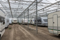 Caravan parking in empty Dutch Greenhouse - PhotoDune Item for Sale