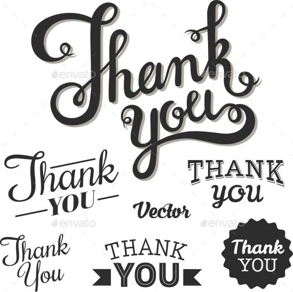 GraphicRiver Thank You Set 11246982