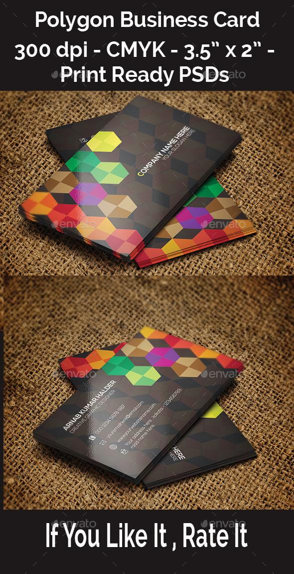 GraphicRiver Polygon Business Card 11247014