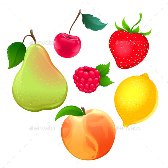GraphicRiver Set of Different Fruits 11247037