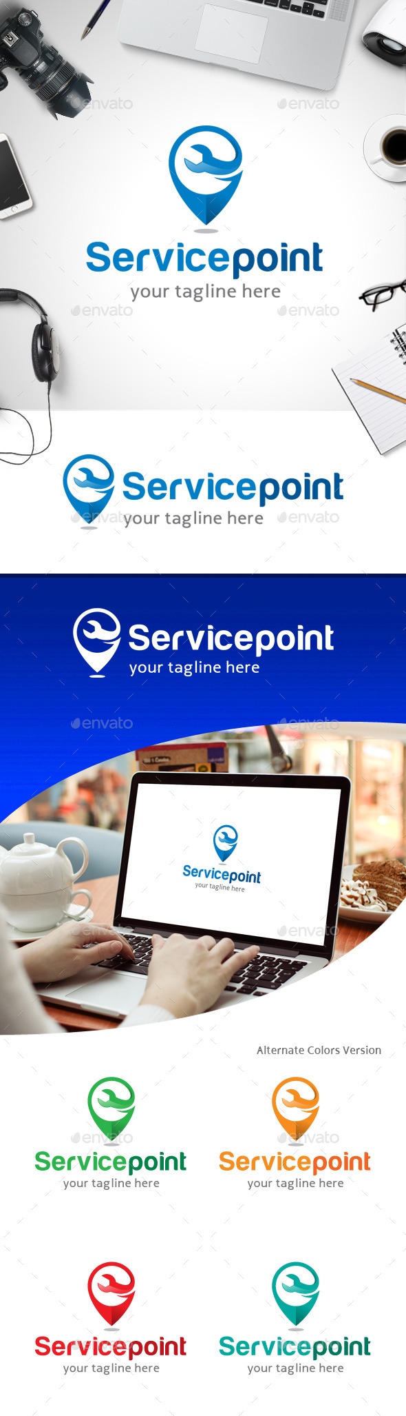 GraphicRiver Service Point Logo 11247109