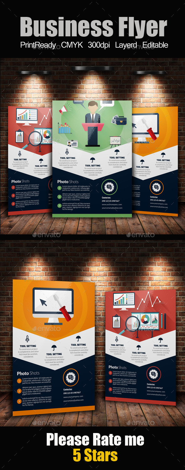 GraphicRiver SEO Web Flyer Template 11247133