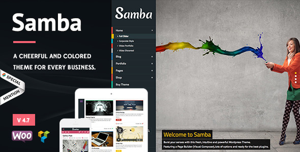 Samba - Colored WordPress Theme