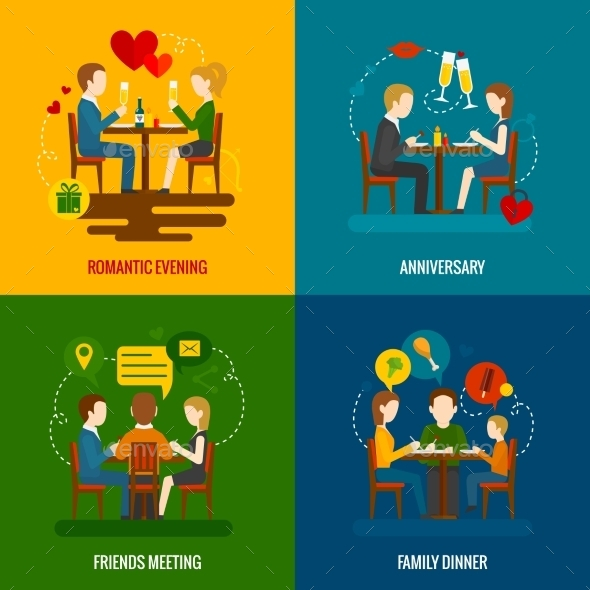 GraphicRiver People in Restaurant Set 11247151