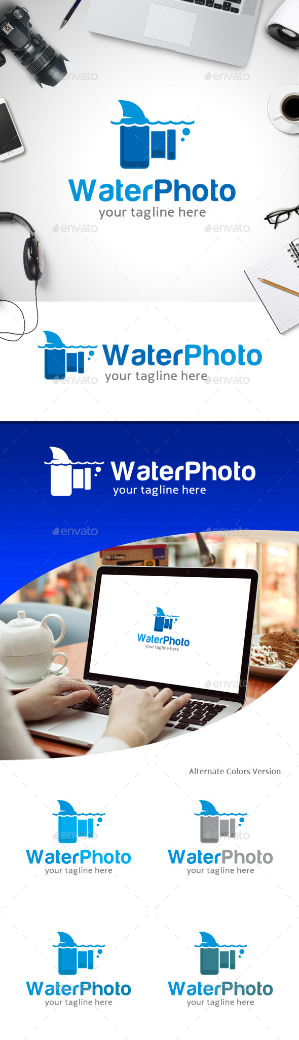 GraphicRiver Water Photo Logo 11247158