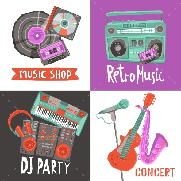 GraphicRiver Music Design Concept 11247163