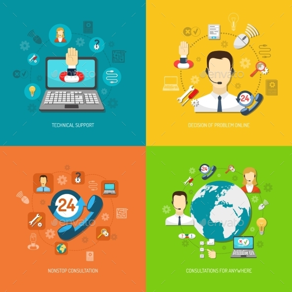 GraphicRiver Design Concept Set for Support 11247199