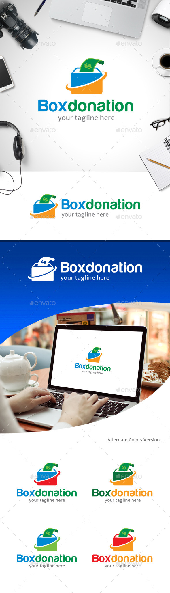 GraphicRiver Box Donation Logo 11247202
