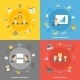 Business Concept Flat Icons Set - GraphicRiver Item for Sale