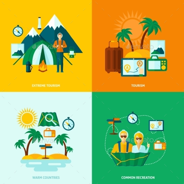 GraphicRiver Flat Tourist Set 11247210