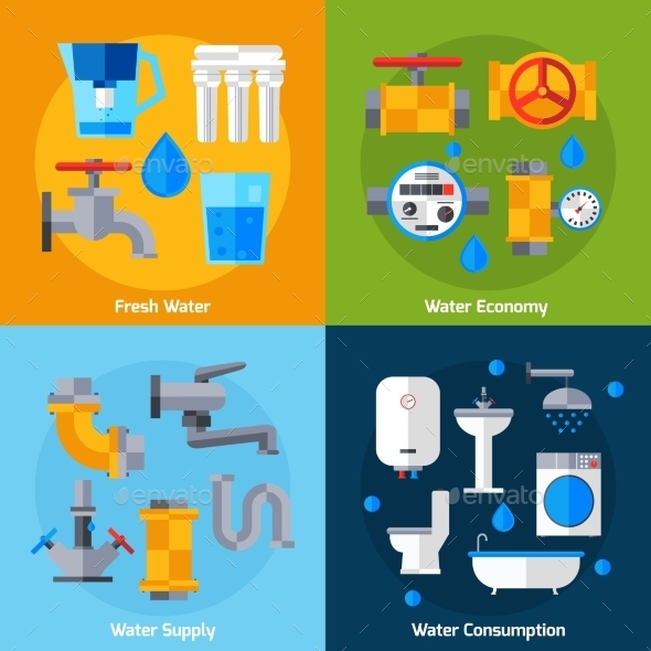 GraphicRiver Water Supply Set 11247213