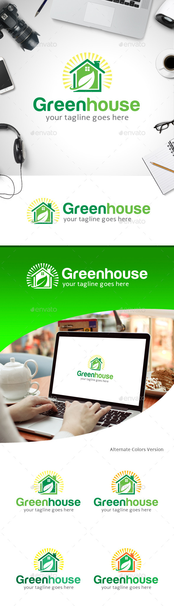GraphicRiver Green House Logo 11247637