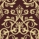 Damask Seamless  Pattern. Golden Background - GraphicRiver Item for Sale