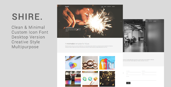 ThemeForest Shire Creative Muse Template 11247672
