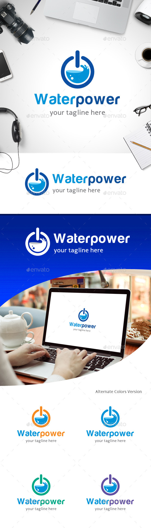 GraphicRiver Water Power Logo 11247840